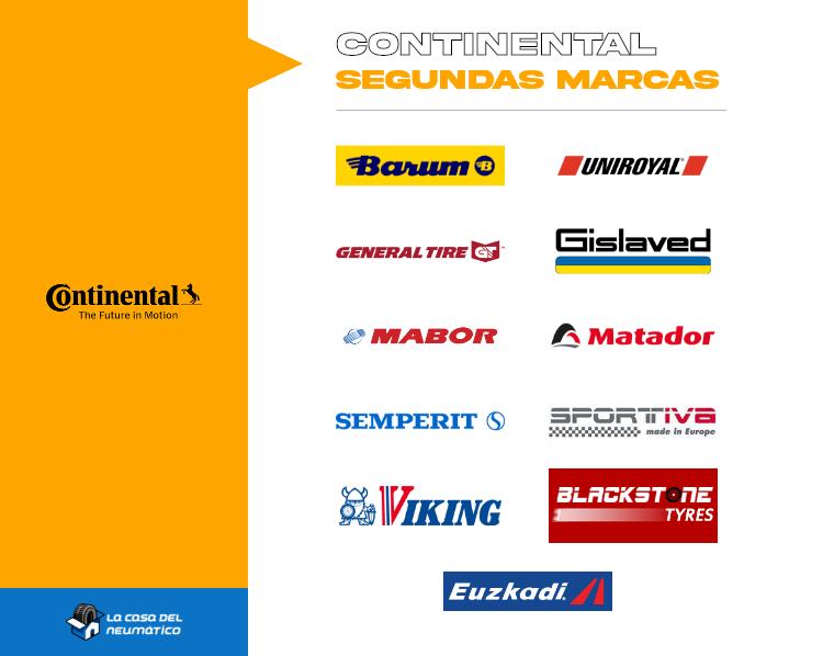 segundas marcas Continental