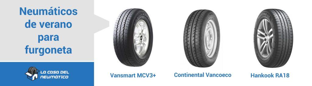 Comparativa neumáticos de verano furgoneta
