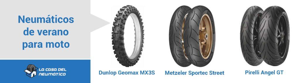 Comparativa neumáticos de verano moto